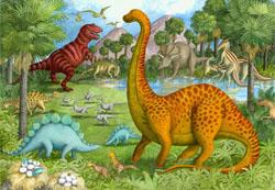 Dinosaur Pals Landscape Jigsaw Puzzle