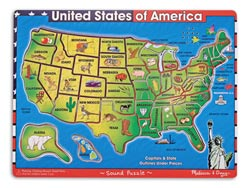 U.S.A. Map United States Sound Puzzle