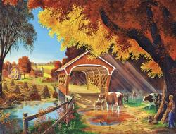 Autumn Morning Bridges Large Piece