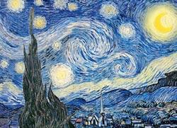 The Starry Night Van Gogh Starry Night Jigsaw Puzzle