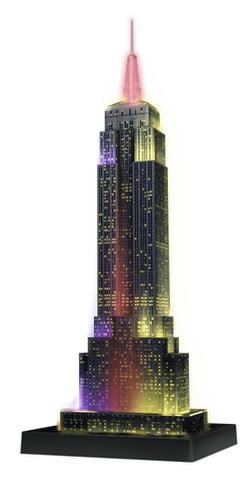 Empire State Building - Night Edition 3D New York Jigsaw Puzzle