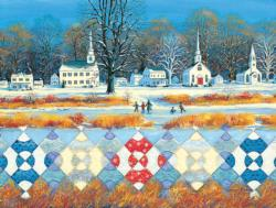 Steeple Chase Winter Jigsaw Puzzle