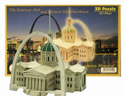 The Gateway Arch & Old Courthouse United States 3D Puzzle