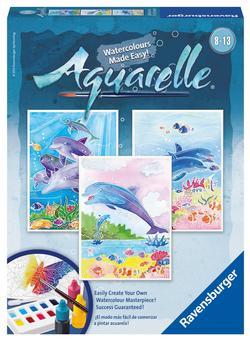Dolphins (Aquarelle Midi) Dolphins