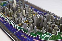 New York Landmarks / Monuments 4D Puzzle