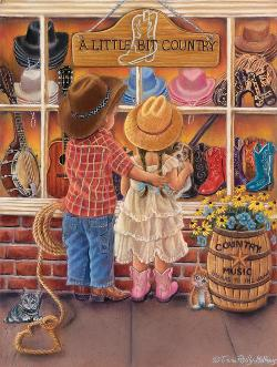 A Bit of Country Valentine's Day Jigsaw Puzzle