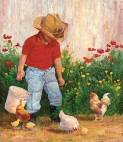 Country Boy Flowers Jigsaw Puzzle