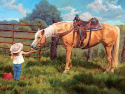 An Apple A Day Horses Jigsaw Puzzle