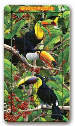 Toucan Jungle Animals Lenticular Puzzle