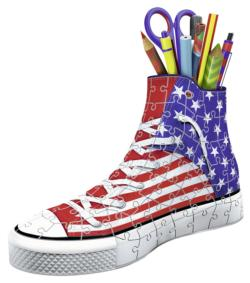 Sneaker American Style Flags 3D Puzzle