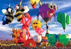 Funky Shapes Hot Air Balloons in NM Balloons Jigsaw Puzzle