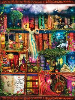 Treasure Hunt Bookshelf Unicorns Jigsaw Puzzle