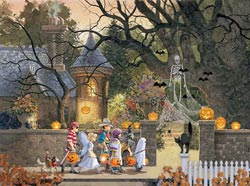 Friends on Halloween Halloween Jigsaw Puzzle