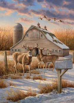 Rural Route Winter Jigsaw Puzzle
