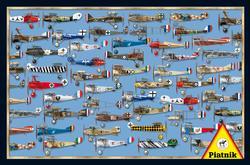 WWI Dogfight Pattern / Assortment Jigsaw Puzzle