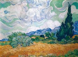 Wheat Field with Cypresses Impressionism Jigsaw Puzzle