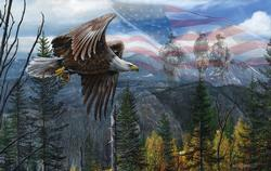 May Freedom Fly Forever Patriotic Jigsaw Puzzle