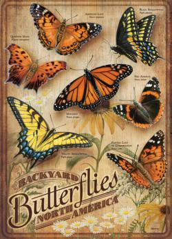 Backyard Butterflies Butterflies and Insects Jigsaw Puzzle