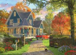The Blue Country House Nostalgic / Retro Large Piece