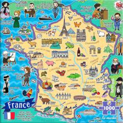 Map of France Maps / Geography Jigsaw Puzzle