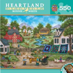 Roadside Gossip Farm Jigsaw Puzzle