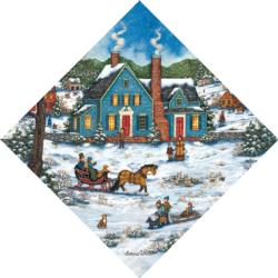 Heading Home Winter Shaped Puzzle