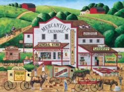 Morning Deliveries (Town & Country) Americana & Folk Art Large Piece