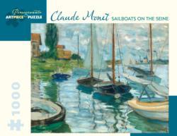 Sailboats On Seine Boats Jigsaw Puzzle