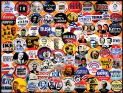 Campaign Buttons Collage Jigsaw Puzzle