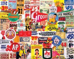 Vintage Groceries Nostalgic / Retro Jigsaw Puzzle