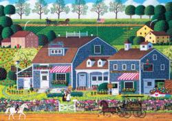 Prairie Wind Flowers Americana & Folk Art Large Piece