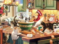 Kitten Kitchen Capers Food and Drink Jigsaw Puzzle