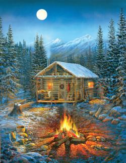 Holiday Cabin Dementia / Alzheimer's Large Piece