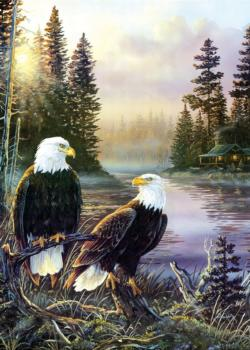 Cabin Days Eagles Large Piece