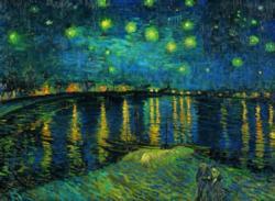 Starry Night on the Rhone Fine Art Jigsaw Puzzle