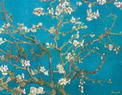 Almond Tree Branches in Bloom (Mini) Flowers Miniature Puzzle