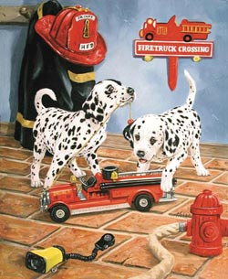 All Fired Up Dogs Jigsaw Puzzle