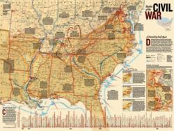 Civil War Battles History Jigsaw Puzzle