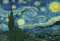 Starry Night by Van Gogh Fine Art Jigsaw Puzzle