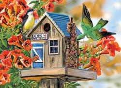 Trumpet Vines & Tree Sparrows Birds Family Puzzle