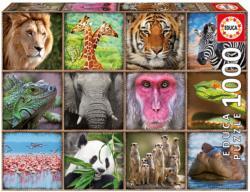Wild Animals Collage Animals Jigsaw Puzzle