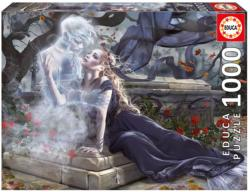 Bride in Black Gothic Jigsaw Puzzle