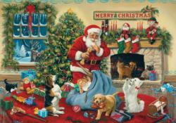 Santa's Beggars Santa Jigsaw Puzzle