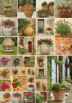Clay Pots with Flowers Flowers Jigsaw Puzzle