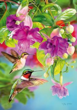 Hummingbirds Flowers Jigsaw Puzzle