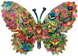 Butterfly Menagerie Flowers Shaped Puzzle