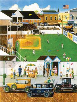 Before the Big Game Street Scene Jigsaw Puzzle
