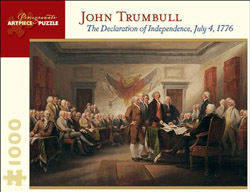 The Declaration of Independence, July 4, 1776 United States Jigsaw Puzzle
