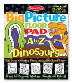 Big Picture Floor Pad A to Z - Dinosaurs
