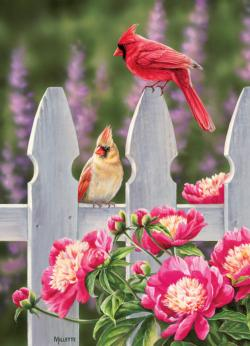 Cardinals and Peonies Birds
